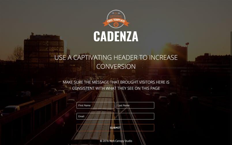 Cadenza---HubSpot-Landing-Page-Template