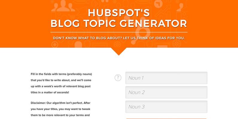 HubSpot-Blog-Topic