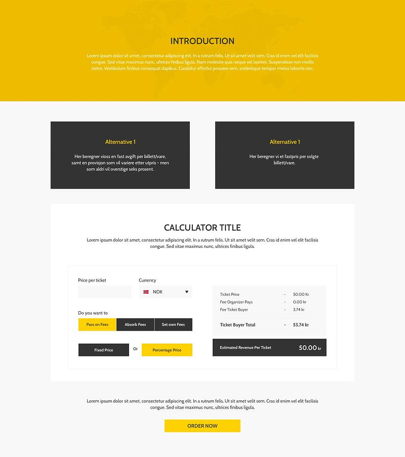 TicketCo Pricing Page New