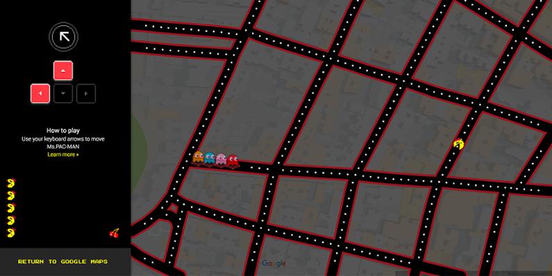 Ms-Pacman-Google-Maps